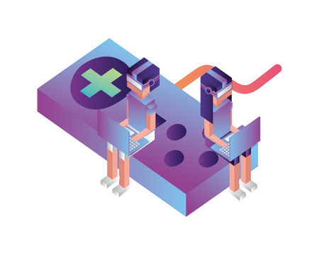 game control isometric icon vector illustration design