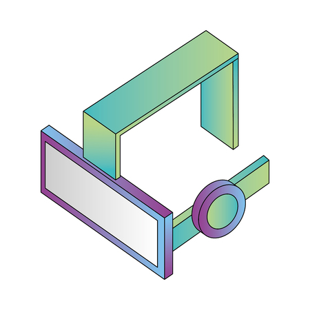glasses virtual reality isometric icon vector illustration design Illustration