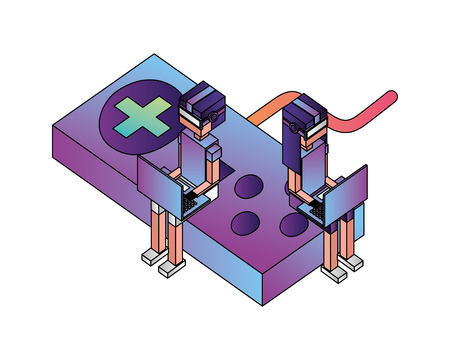game control isometric icon vector illustration design Stock fotó - 102972425