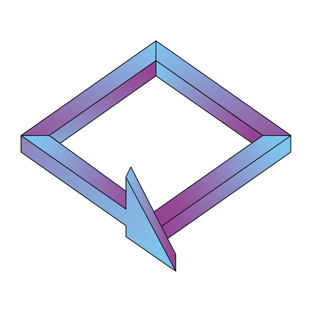 arrow symbol isometric icon vector illustration design