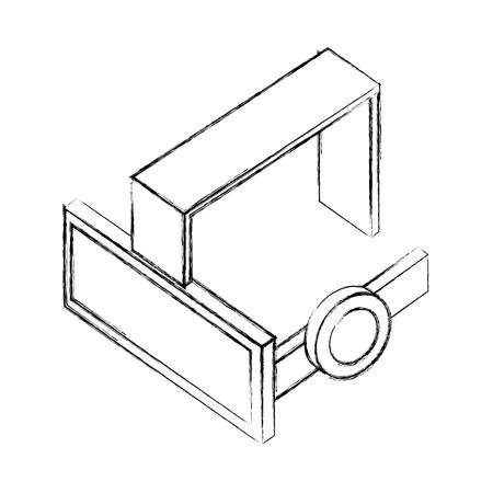 glasses virtual reality isometric icon vector illustration design Illustration