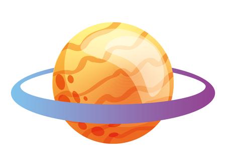 saturn planet solar system astronomy vector illustration Ilustração