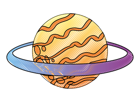 saturn planet solar system astronomy vector illustration Ilustracja