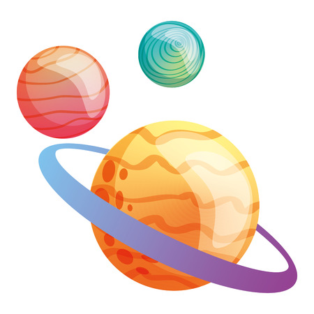 saturn planet solar system astronomy vector illustration 일러스트
