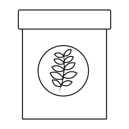 natural herbal fresh tea bag vector illustration outline Illustration