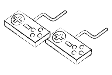 controllers for video game console vector illustration sketch
