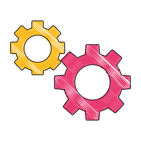 gears machine isolated icon vector illustration design