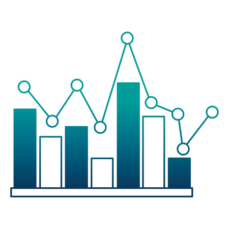 statistical graphics isolated icon vector illustration design