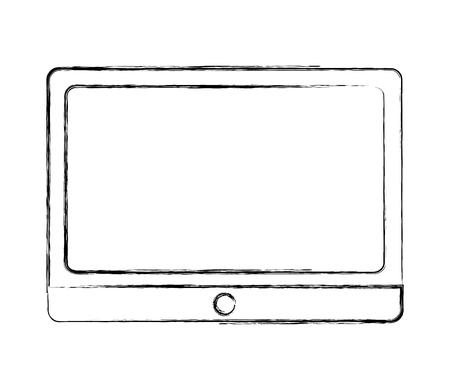 tablet computer device wireless digital image vector illustration sketch Illustration