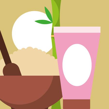peeling product gel care spa wellness vector illustration  イラスト・ベクター素材