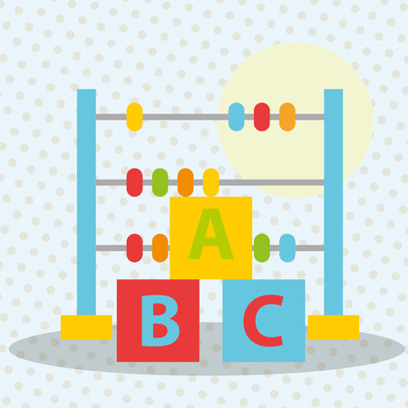 abacus blocks alphabet toys  vector illustration