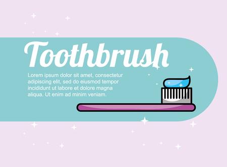 toothbrush dental care hygiene banner vector illustration