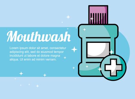 mouthwash dental care protection poster vector illustration Illustration