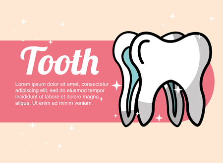dental care tooth oral hygiene banner vector illustration