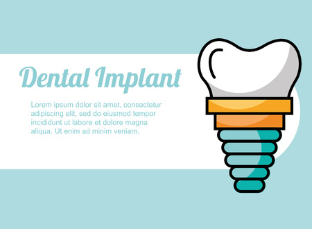 dental implant treatment care image vector illustration Ilustrace