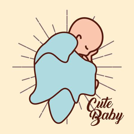 pregnancy fertilization cute baby slepping good born vector illustration
