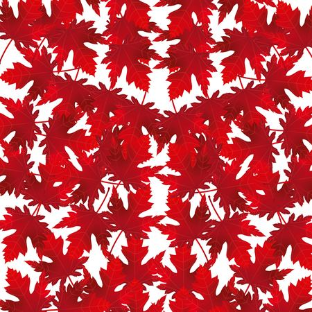 red maple leaves decoration background vector illustration