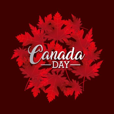 independence canada day important happy celebrate vector illustration Ilustração