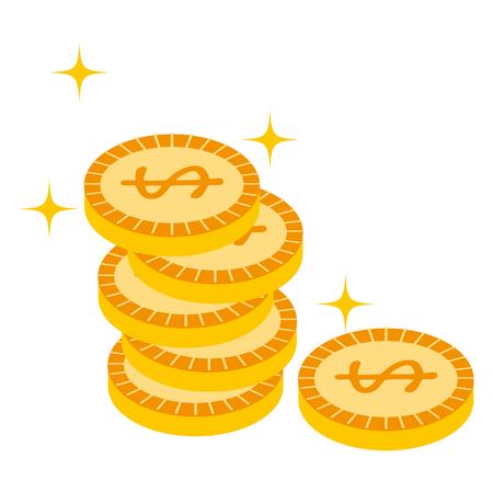 coins argent isolé icône du design illustration vectorielle