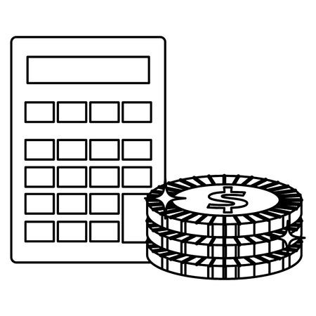 Dispositif de protection mathématique avec des pièces de monnaie illustration vectorielle design Banque d'images - 103019092