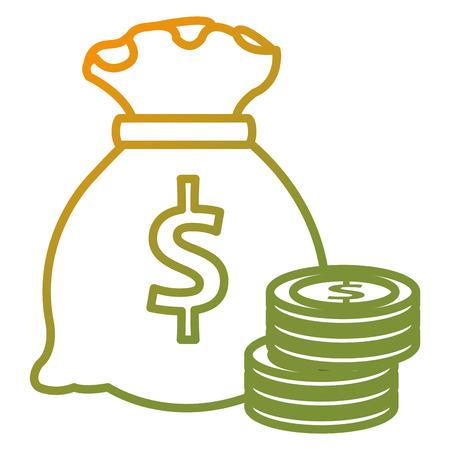 money bag with coins vector illustration design 写真素材 - 103019790