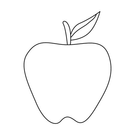 apple fresh fruit healthy vector illustration design