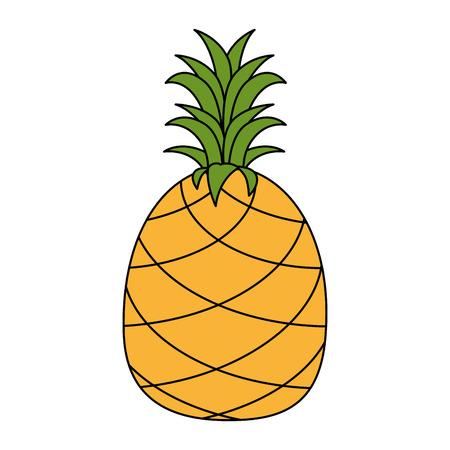 pineapple fresh fruit healthy vector illustration design
