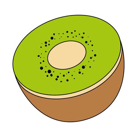 kiwi fresh fruit healthy vector illustration design