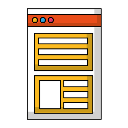 web page template isolated icon vector illustration design Çizim