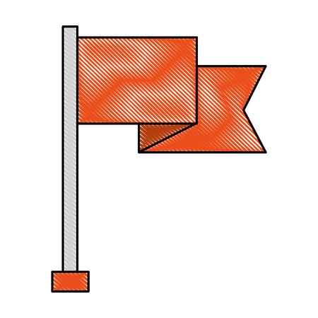 red flag success goal concept vector illustration 向量圖像
