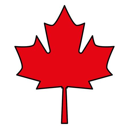red maple leaf canadian symbol vector illustration Illustration