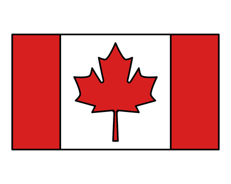 canadian flag national emblem image vector illustration Illusztráció