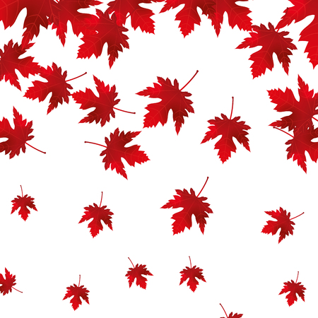 maple leaf icon pattern vector illustration design