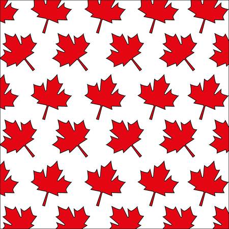 red maple leaf decoration pattern vector illustration