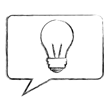 speech bubble with light bulb isolated icon vector illustration design