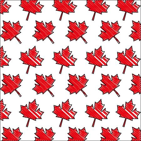red maple leaf decoration pattern vector illustration