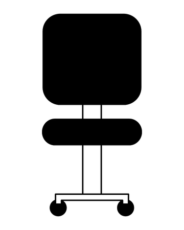 office chair with wheels icon vector illustration design