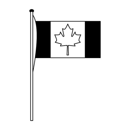 Canadiense bandera nacional icono vector ilustración esquema Foto de archivo - 103034951