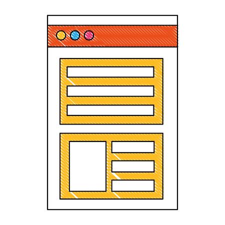 website page information business report vector illustration