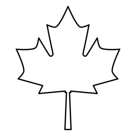 foglia d & # 39 ; acero isolato icona illustrazione vettoriale di progettazione Vettoriali