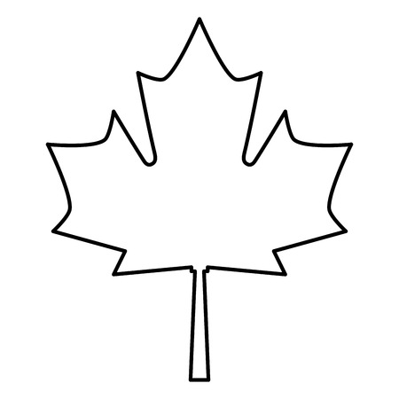 maple leaf isolated icon vector illustration design