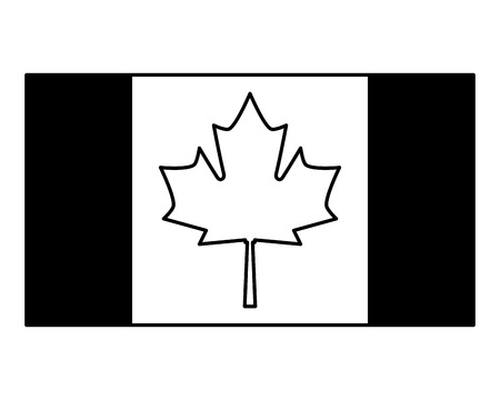 canadian flag country icon vector illustration outline Vettoriali