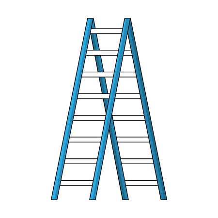 construction ladder isolated icon vector illustration design