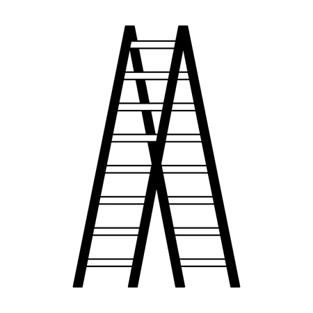 wooden stair tool object image vector illustration