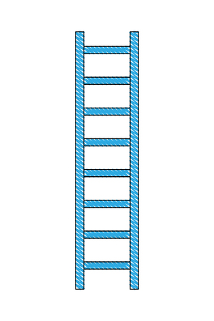 Bau Leiter isoliert Symbol Vektor-Illustration , Design ,