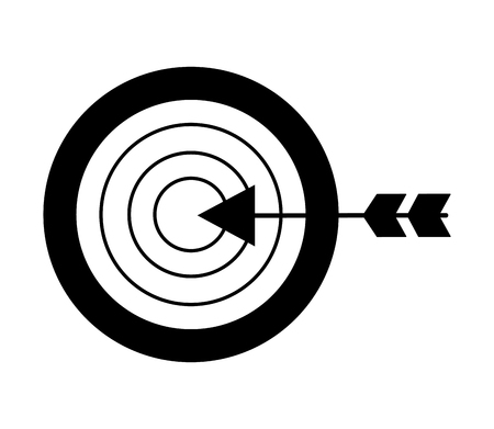 business target arrow strategy metaphor vector illustration