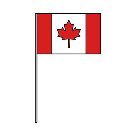 Canadiense bandera nacional icono vector ilustración esquema Foto de archivo - 103056432