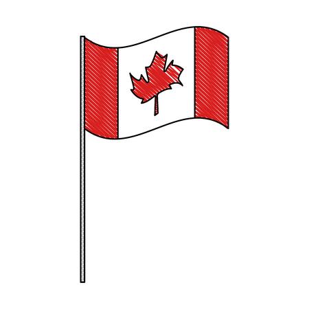 canadian flag country icon vector illustration outline Archivio Fotografico - 103056435