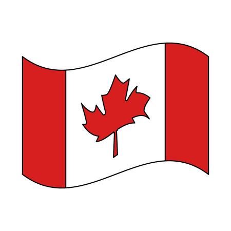 Canadiense bandera nacional icono vector ilustración esquema Foto de archivo - 103056453
