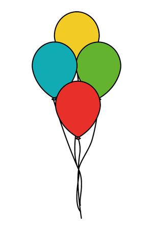 bunch of balloons air decoration vector illustration  イラスト・ベクター素材
